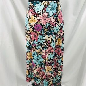 Jaclyn Smith Multi Color Floral Skirt